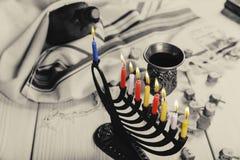 Hanukkah, the Jewish Festival of Lights. Jewish holiday hannukah , the Jewish Festival of Lights Stock Photo