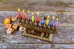 Hanukkah, the Jewish Festival of Lights. Jewish holiday, Holiday symbol Hanukkah, the Jewish Festival of Lights Stock Images