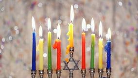 Hanukkah, the Jewish Festival of Lights stock footage