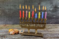 Hanukkah, the Jewish Festival of Lights. Jewish holiday hannukah , the Jewish Festival of Lights Stock Image