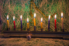 Hanukkah, the Jewish Festival of Lights stock photography