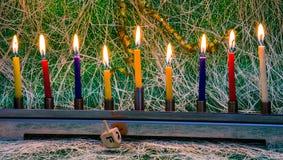 Hanukkah, the Jewish Festival of Lights. Judaic, religion Royalty Free Stock Image
