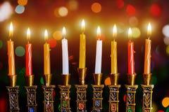Hanukkah, the Jewish Festival of Lights. Hanukkah Menorah Royalty Free Stock Image