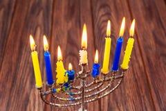 Hanukkah, the Jewish Festival of Lights  menorah candles  holidays Royalty Free Stock Image