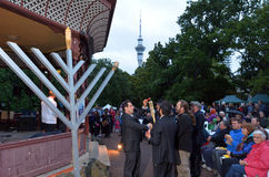 Hanukkah - Jewish Holiday. AUCKLAND, NZL - DEC 16 2014:The Jewish community celebrates the festival of Hanukkah. It's an eight-day festival commemorating the royalty free stock photography