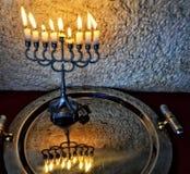 Hanukkah Jewish holiday symbols Royalty Free Stock Photo