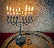 Hanukkah Jewish holiday symbols Royalty Free Stock Photography