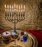 Hanukkah Jewish holiday symbols Stock Photography