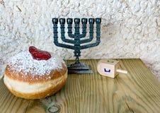 Hanukkah Jewish holiday symbols Stock Photo