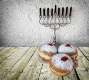 Hanukkah Jewish holiday symbols Royalty Free Stock Images