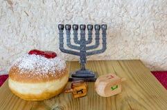 Hanukkah Jewish holiday symbols Stock Photos