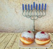 Hanukkah Jewish holiday symbols Royalty Free Stock Photos