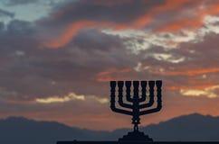 Hanukkah Jewish holiday symbols Royalty Free Stock Image