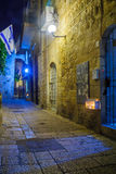Hanukkah in the Jewish quarter, Jerusalem Royalty Free Stock Photos
