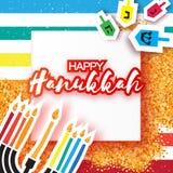 Hanukkah juish wektorowa ilustracja żydowskiego menorah prosta wektorowa ikona hanuka świeczek symbol