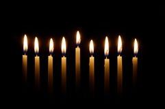 Hanukkah-Kerzen Lizenzfreies Stockbild