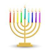 hanukkah lampa vektor illustrationer