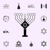 hanukkah lamppictogram Voor Web wordt geplaatst dat en het mobiele algemene begrip van Chanoekapictogrammen stock illustratie