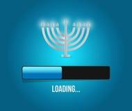 Hanukkah loading concept illustration Royalty Free Stock Photo