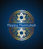 Hanukkah logo symbal. Jewish holiday hanukkah with  menorah Stock Photography