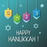 hanukkah lycklig illustration vektor illustrationer