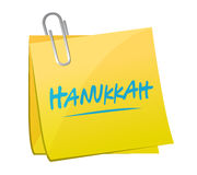 hanukkah memo post illustration design Royalty Free Stock Photos