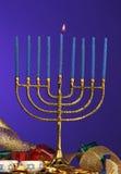 hanukkah menora Royaltyfri Foto