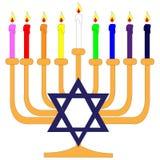Hanukkah menorah Stock Photography