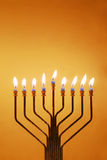 Hanukkah Menorah Foto de Stock Royalty Free