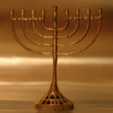 Hanukkah menorah. Golden Hanukkah menorah royalty free illustration