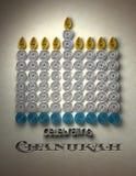 Hanukkah Menorah Foto de Stock