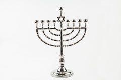 Hanukkah Menorah. A Hanukkah Menorah against a white background Royalty Free Stock Photos