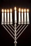 Hanukkah Menorah/bougies de Hanukkah Photographie stock libre de droits