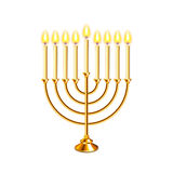 Hanukkah menorah with candles  vector Royalty Free Stock Image
