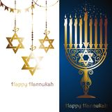 Hanukkah Menorah card vector illustration