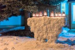 Hanukkah menorah Royalty Free Stock Photos