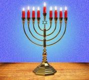 Hanukkah menorah 3D render Stock Images