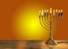 Hanukkah menorah 3D render Stock Photos