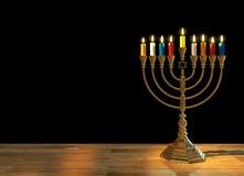 Hanukkah menorah 3D render Royalty Free Stock Photos