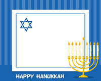 Hanukkah Menorah Horizontal Frame Royalty Free Stock Image