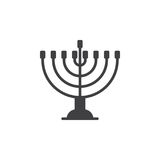 Hanukkah menorah icon vector, filled flat sign, solid pictogram isolated on white. Stock Photography