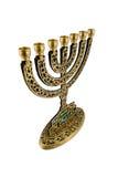 Hanukkah Menorah - isolado Foto de Stock