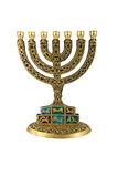 Hanukkah Menorah - isolado Fotos de Stock Royalty Free