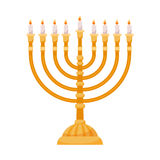 Hanukkah menorah isolated on white Stock Image