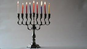 Hanukkah menorah stock video