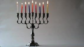 Hanukkah menorah stock video footage