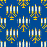 Hanukkah Menorah Seamless Pattern Royalty Free Stock Image