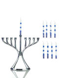 Hanukkah: Menorah with Separate Candles to Side Stock Photos