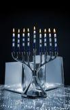 Hanukkah Menorah With Silver Boxes Royalty Free Stock Image