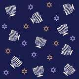 Hanukkah-Muster Lizenzfreie Stockfotos